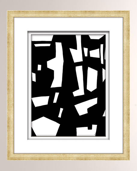 Black/White Abstract Art - 6
