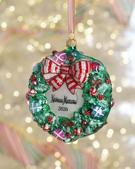 Candy Wreath Christmas Ornament