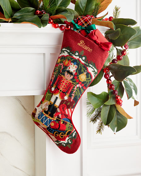 Needlepoint Toy Solider Stocking, Personalized