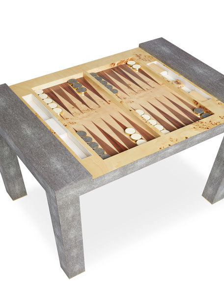 Shagreen Game Table, Chocolate