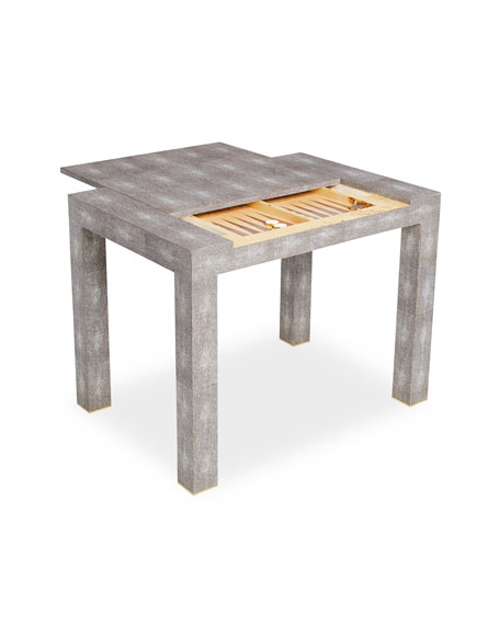 AERIN Shagreen Game Table, Chocolate