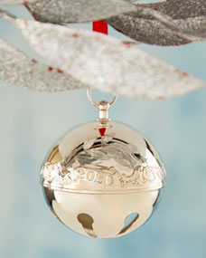 Wallace Silversmith 2021 Annual Christmas Ornament Wallace Silversmiths 2020 Wallace Silver Plated Sleigh Bell Christmas Ornament 50th Edition