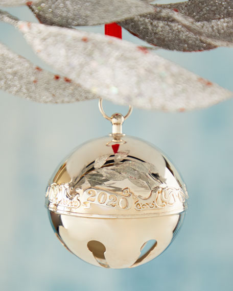 2020 Wallace Silver-Plated Sleigh Bell Christmas Ornament (50th Edition)