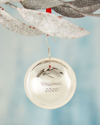 Sterling Silver Christmas 2020 Ball Ornament