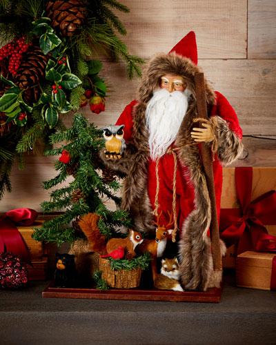 Woodland Santa with Animals