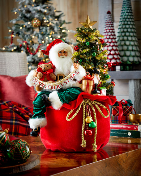 Karen Didion Originals Lighted Merry Christmas Toy Bag
