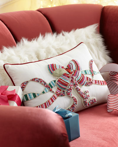 Sweet Holiday Bow Pillow