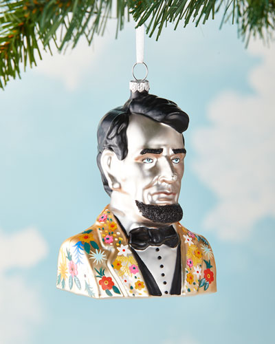 Abe Lincoln Christmas Ornament
