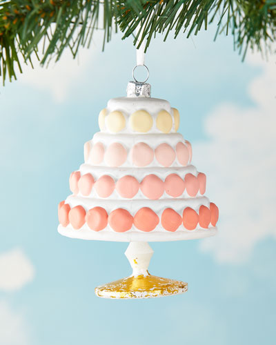 Gradient Macaroon Cake Christmas Ornament