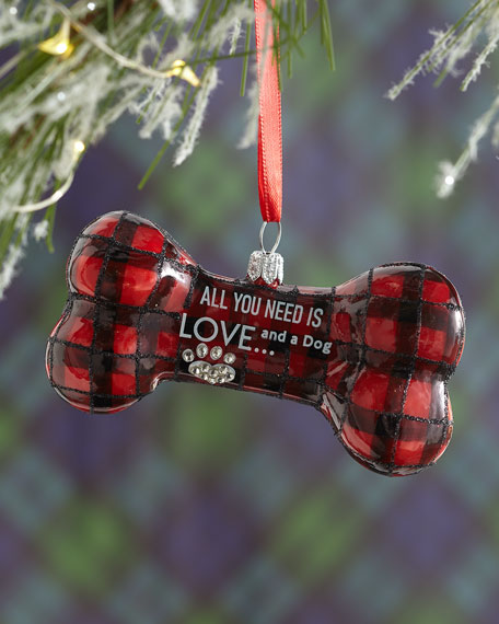 All You Need Is Love & A Dog Christmas Ornament
