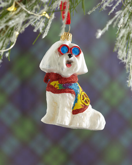 Joy To The World Collectibles Maltese in Tie-Dye