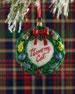 I Love My Cat Wreath Christmas Ornament