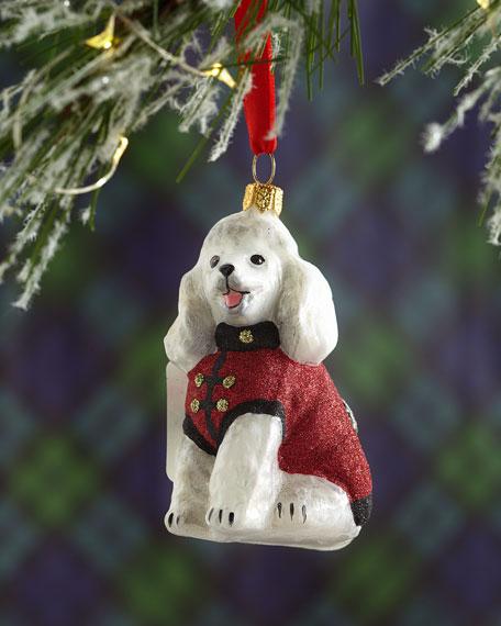 Poodle Dog Christmas Ornament
