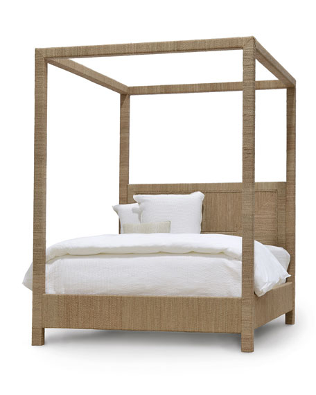Woodside Canopy Queen Bed, Natural