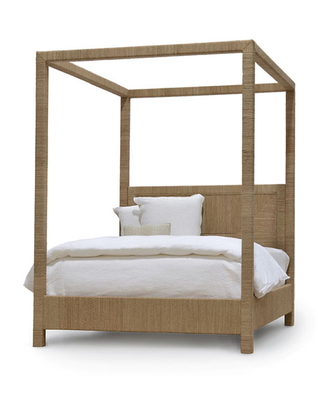 Woodside Canopy California King Bed, Natural