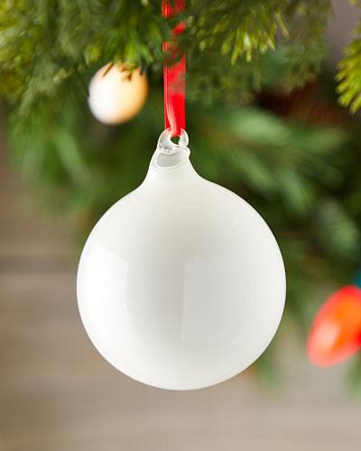 80mm Bubblegum Glass Ball Christmas Ornament