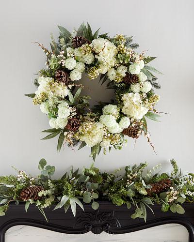 Hydrangea Snowball Wreath