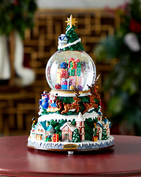 All Through The Night Musical Christmas Snowglobe