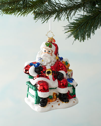 Santa's Happy Place Christmas Ornament