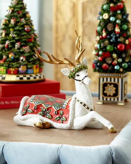 MacKenzie-Childs Aberdeen Sitting Reindeer
