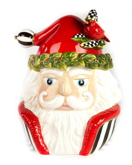 Night Cap Santa Cookie Jar