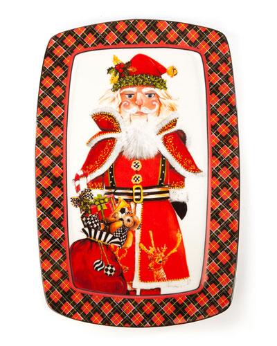 Santa Nutcracker Cookie Plate