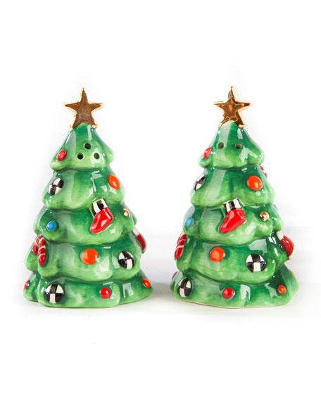 Christmas Carol Tree Salt and Pepper Shaker Set