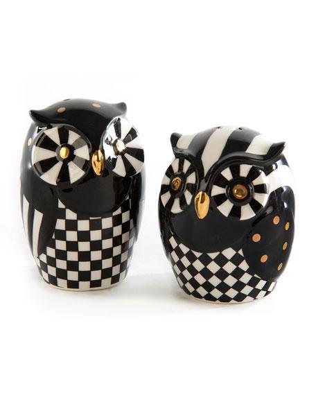 Mod Owl Salt and Pepper Shaker Set