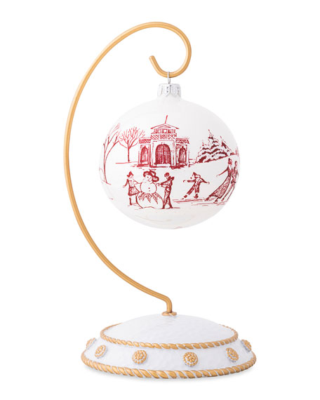 Juliska Country Estate Winter Frolic Glass Ornament 2020 Limited Edition