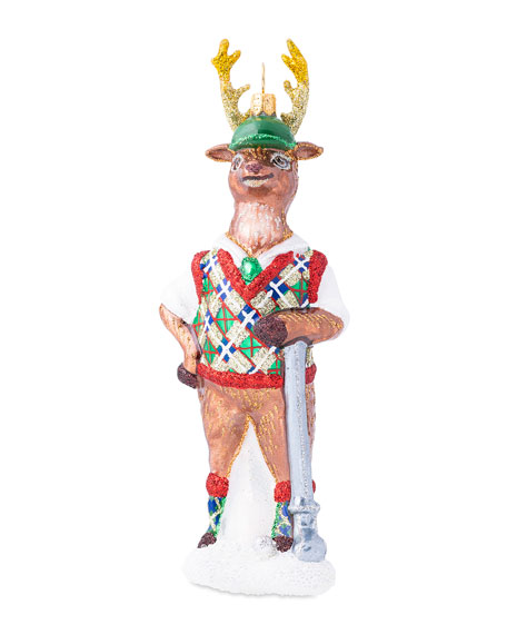 Country Estate Reindeer Games Comet with Elf Ornament