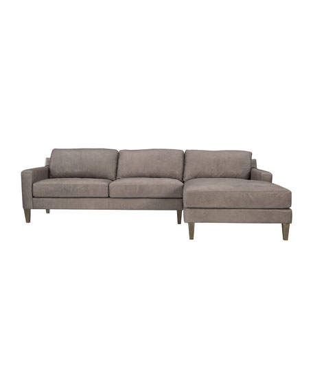 Palmer Leather Right Facing Chaise Sofa