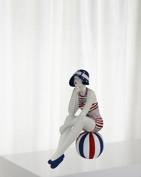 Red White Blue Bather Figurine