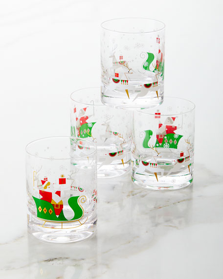Good Cheer Double Old-Fashioned Glasses, Set of 4