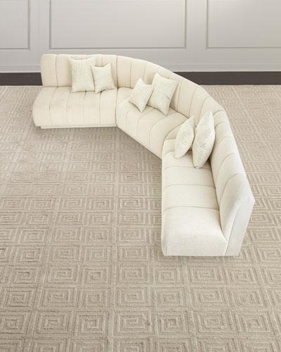 Malia Channel-Tufted Sectional Sofa
