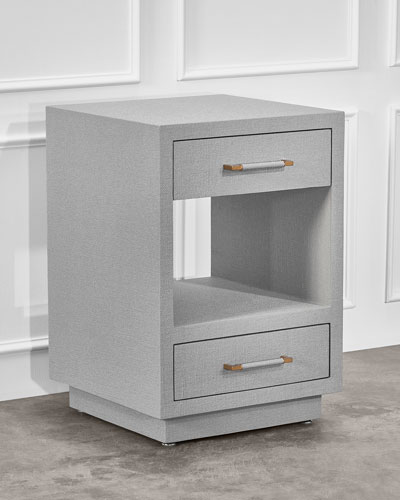 Taylor Small Bedside Chest  Gray