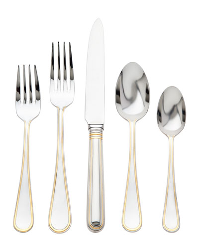 5-Piece Ascot Gold Flatware Set