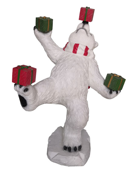 """47"""" Juggling Bear with Gift Boxes"""