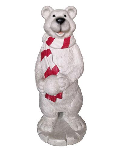 47 Playful Polar Bear with Snowball