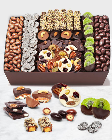 Premium Belgian Chocolate Covered Caramel Nut and Fruit Tray