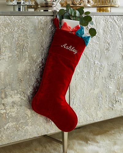 23 Velvet Stocking  Red