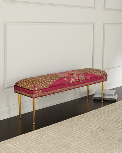 Fuchsia Peacock Bench