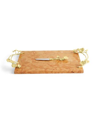 Monet's Garden Sunrise Cheese Board with Knife
