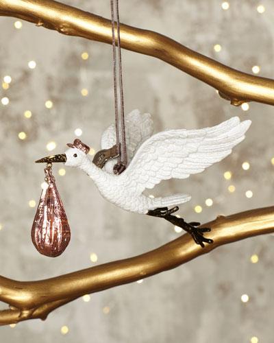 Pink Stork Ornament