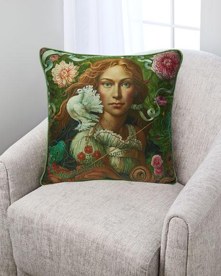 Slay Your Dragon Silk Pillow