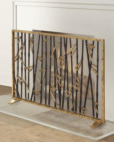 Bamboo Fireplace Screen