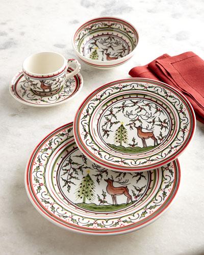 Christmas Pavoes Salad Plates  Set of 4