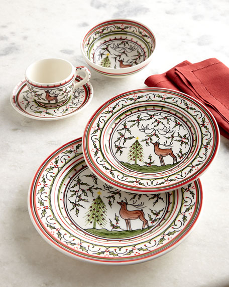 Neiman Marcus Christmas Pavoes Salad Plates, Set of