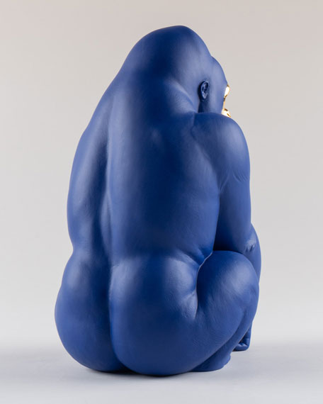 Blue Gold Gorilla Figurine