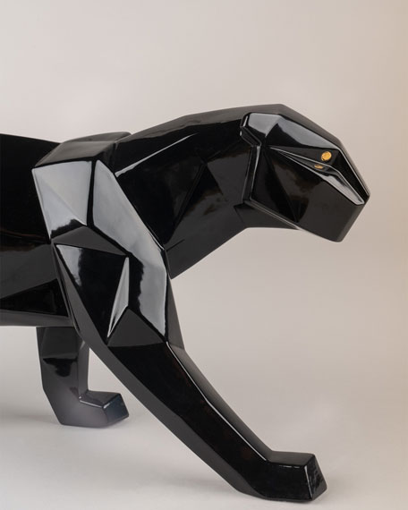Origami Black Panther Sculpture