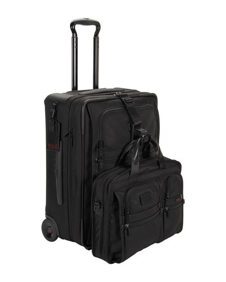 8f00f4a581 Tumi Alpha 2 Black International Expandable Two-Wheeled Carry-On Luggage